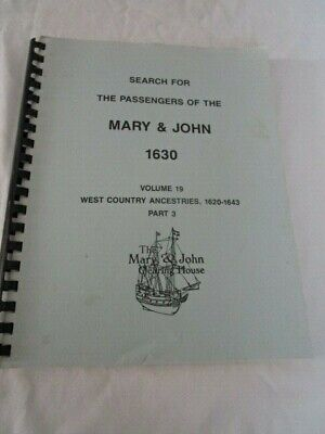 Search for the Passengers of the Mary & John 1630 Volume 19