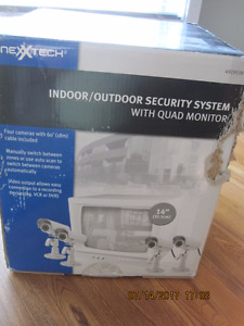 NEXXTECH Retail Store Security System with Quad Monitor