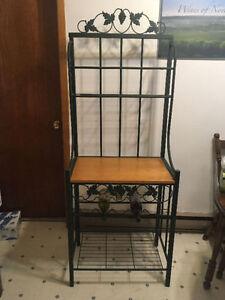 Shelf with wine holder
