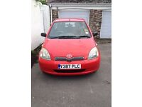 Toyota Yaris. 998cc. 3 door. MOT May 2017. Good runner. Reliable.Slight lacquer peeling. £850