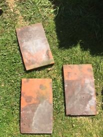 Reclaimed handmade red clay roof tiles - lot of 210 (qty)