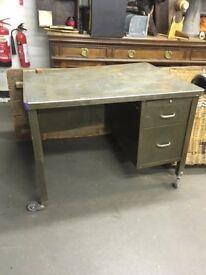 Vintage metal desk.