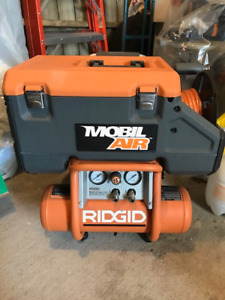 USED RIDGID MOBIL AIR 2.5 GAL PORTABLE COMPRESSOR PNEUMATIC HUB