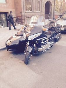 Honda Goldwing with Sidecar Black in color