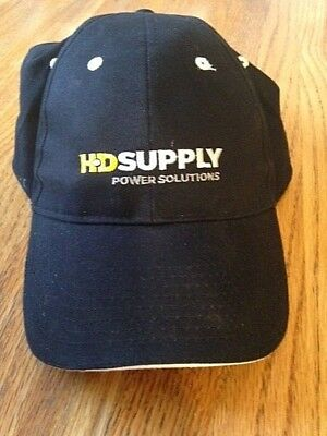 Hd Supply Power Solutions Hat Low Profile Adjustable Strap Back Black Nwot