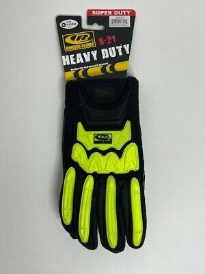 Ringers Gloves Utility Work Gloves R-21 Heavysuper Duty Black Neon Green Dnr