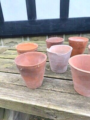 terracotta vintage hand made plant pots 4 inch