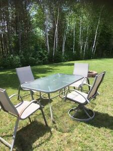 patio set - table & 4 chairs