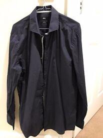 Mens Hugo Boss Shirt - Dark Blue - 16 1/2 formal