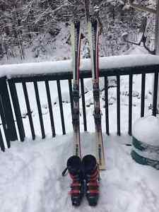 Skis Dynastar Omecarve 165 cm et bottes pointure 9 homme