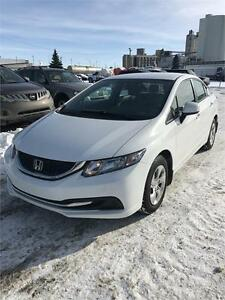 2013 Honda Civic Sdn LX 5spd 4dr Warranty, Low Kms
