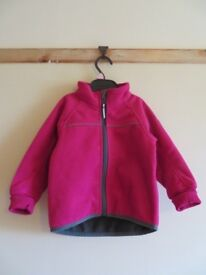 Polarn O Pyret Pink Fleece Jacket with Lining (1.5 to 2yrs)