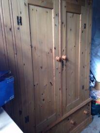 Corndell Double Wardrobe - antique pine
