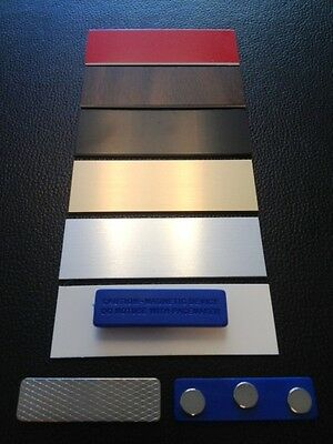 1o Blank Name Pin Tag Badge With Magnets For Attachment Choice Colors 1x3