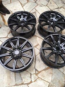 """Mag Wheels Jantes Roues 19""""x8.5"""" 5x112 +45 Offset, Black color"""