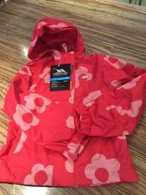 Trespass Red Waterproof Jacket (BRAND NEW) age 5-6yrs