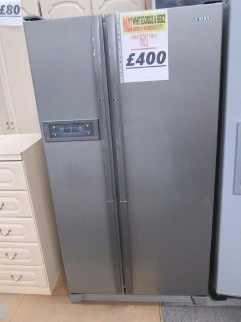💥....REDUCED.....💥💥*****SAMSUNG SILVER AMERICAN DOUBLE FRIDGE FREEZER *****💥💥