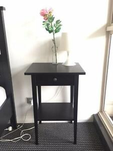 Black Bedside Table (Great Condition) Waterloo Inner Sydney Preview