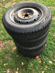 """Winter Tires and Steel Wheel 16"""" Subaru Forester"""