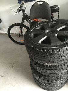 Oem audi a4 17 pouces mag avec pneu neuf yokohama