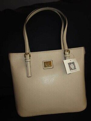 ANNE KLEIN NWT Leather Handbag Bone Color