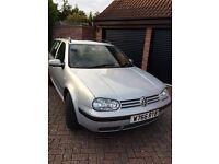 VW Golf 1.9 S TDI Estate, 2000, 211,000 miles, MOT 02/09/16, spares or repair, £300ono, 07989513383