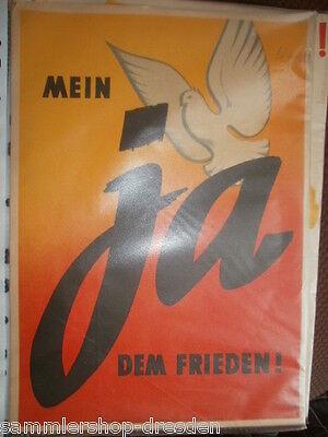 Nm12 Landesfriedenskomitee Plakat - Mein Ja dem Frieden !  1951