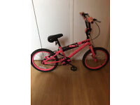 "Dark pink 'Concept DIVA' BMX. 10"" frame, 18"" wheels with good tyres"