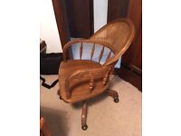 Oak office chair- Good condition
