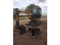 Mini Digger & Experienced Operator Hire for Groundworks, Landscaping, Drainage Etc.