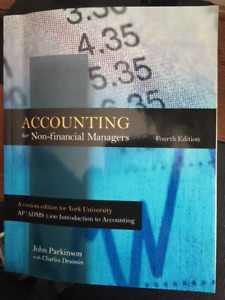 Accounting for Non-Financial Managers 4th Ed.