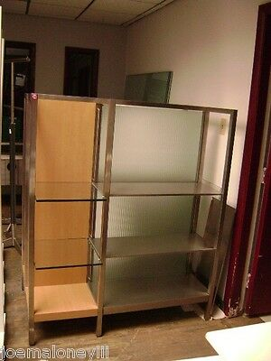Retail Glass Metal Shelving  Modern Retail Display Stand