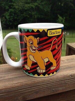 Disney The Lion King Simba Coffee Mug Cup Tea Cup Red Black Animal Print