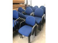 office furniture stacking blue meeting/conference chairs