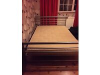 Jay-be metal double bed with mattress