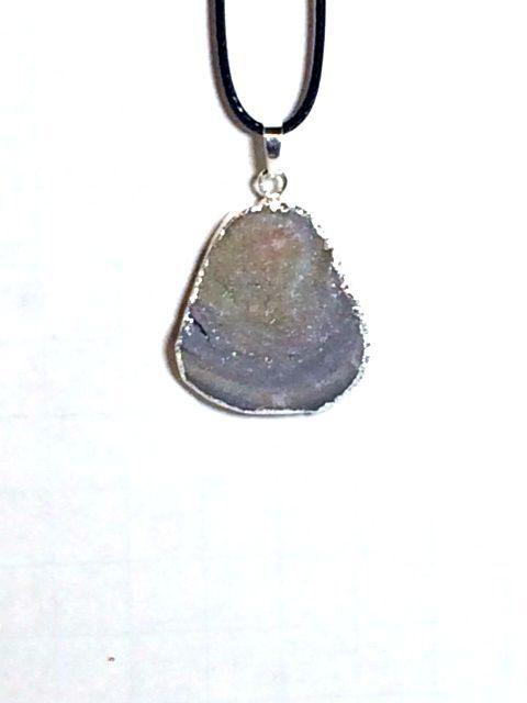 Drusy Agate Healing Stone Pendant