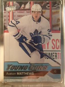 carte de hockey 16-17 Upper Deck #201 Auston Matthews YG RC