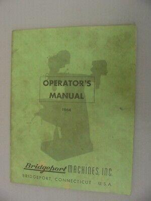 Bridgeport Turret Miller J Attachment Operation Parts Manual - 1964
