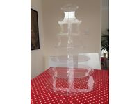 Seven tier round acrylic cake stand for sale (weddings, birthday parties, etc.) £25