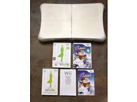 Wii Fit Balance Board, Wii Fit & Wii Family Ski & Snowboard Game