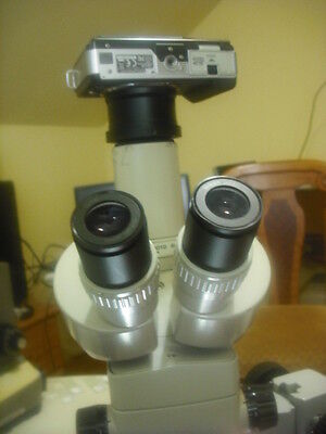 Nikon Smz-2t Microscope Camera Kit W 1x Lens 2 M 43 Olympus Apophot Opti Labo A