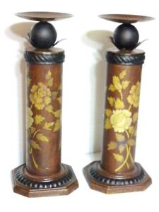 Pair Of all Aetal Candle Holders