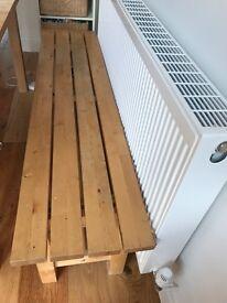 Kitchen wood bench