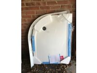 Quadrant shower tray - white, unused