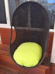 Large Outdoor Hanging Egg Chair Pod Wicker Rattan Westbourne Park Mitcham Area Preview
