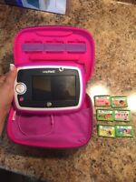 LeapPad 3 - Pink with cover, charger, and 6 games