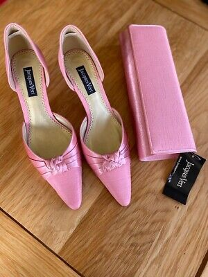 LADIES JACQUES VERT PINK (Azalea) SHOES AND MATCHING BAG SIZE UK 6 EUR 39