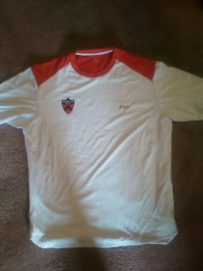 Two Fila Princeton University tennis team dri-fit shirts
