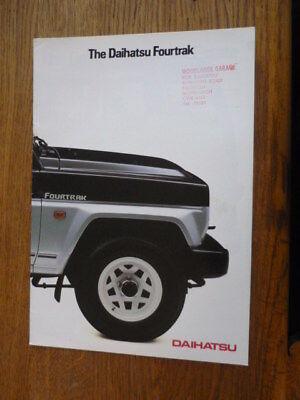 DAIHATSU FOURTRACK CAR BROCHURE for sale  Frodsham