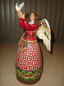"""REDUCED-JIM SHORES ANGEL -"""" MAY PEACE FILL YOUR HEART """" - $59.99"""